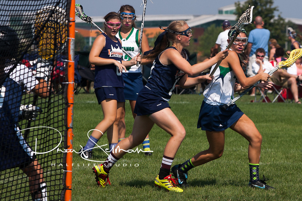 Girls Lax from Marquette High School in Chesterfield, MO compete in the 2012 Indian Prarie Showdown in Naperville, IL