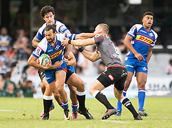 DURBAN, SOUTH AFRICA - APRIL 21: Dillyn Leyds  during the Super Rugby match between Cell C Sharks and DHL Stormers at Jonsson Kings Park on April 21, 2018 in Durban, South Africa. Picture Leon Lestrade/African News Agency/ANA