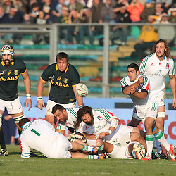 PADUA, ITALY - NOVEMBER 22: Edoardo Gori of Italy during the Castle Lager Outgoing Tour match between Italy and South African at Stadio Euganeo on November 22, 2014 in Padua, Italy. (Photo by Steve Haag/Gallo Images)