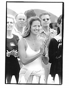 Kelly and Calvin Klein. Van Cleef and Arples Cup. Polo. Bridgehampton. 1995 approx© Copyright Photograph by Dafydd Jones 66 Stockwell Park Rd. London SW9 0DA Tel 020 7733 0108 www.dafjones.com