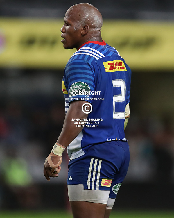 DURBAN, SOUTH AFRICA - MAY 27: Bongi Mbonambi of the DHL Stormers during the Super Rugby match between Cell C Sharks and DHL Stormers at Growthpoint Kings Park on May 27, 2017 in Durban, South Africa. (Photo by Steve Haag/Gallo Images)