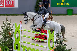 CHAD Kara (CAN), Carona<br /> Genf - CHI Geneve Rolex Grand Slam 2019<br /> Prix des Communes Genevoises<br /> 2-Phasen-Springen<br /> International Jumping Competition 1m50<br /> Two Phases: A + A, Both Phases Against the Clock<br /> 13. Dezember 2019<br /> © www.sportfotos-lafrentz.de/Stefan Lafrentz