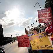 A rally by the KS/MO Dream Alliance for passage of the Dream Act, which would help serve as part of immigration reform.