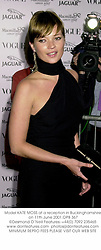 Model KATE MOSS at a reception in Buckinghamshire on 11th June 2001.			OPB 367