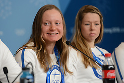 February 8, 2018 - Pyeonchang, Republic of Korea - JOHANNA MATINTALO of the Finnish cross country ski team at a press conference prior to the start of the 2018 Olympic Games (Credit Image: © Christopher Levy via ZUMA Wire)