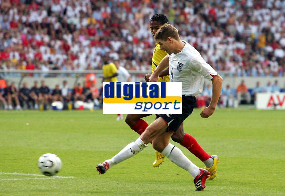 - 25.06.2006 - Angleterre / Equateur - 1/4 de Finale -  Coupe du Monde 2006 <br /> <br /> Photo : Raphael Vergnaud / Icon Sport *** Local Caption ***