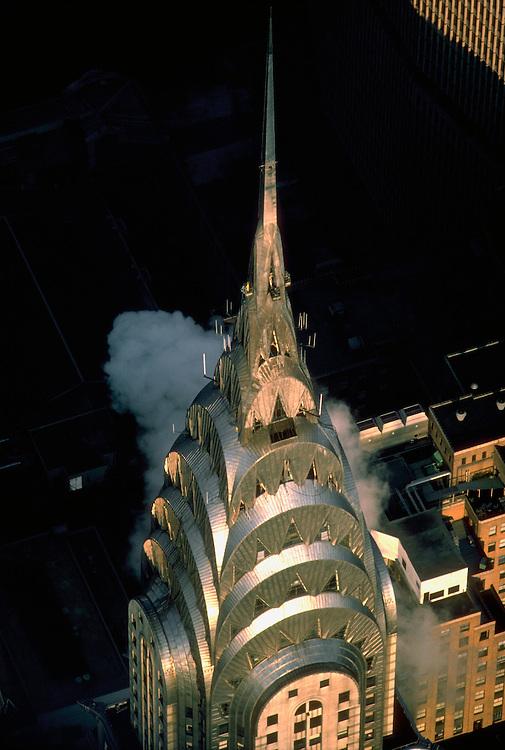 New York. Chrysler Building Aerial, New York City, designed by William Van Alen in 1928