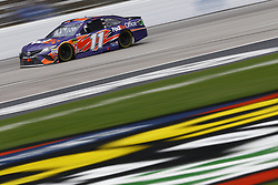 April 8, 2018 - Ft. Worth, Texas, United States of America - April 08, 2018 - Ft. Worth, Texas, USA: Denny Hamlin (11) brings his race car down the front stretch during the O'Reilly Auto Parts 500 at Texas Motor Speedway in Ft. Worth, Texas. (Credit Image: © Chris Owens Asp Inc/ASP via ZUMA Wire)