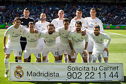 09.04.2016, Estadio Santiago Bernabeu, Madrid, ESP, Primera Division, Real Madrid vs SD Eibar, 32. Runde, im Bild Real Madrid's players // during the Spanish Primera Division 32th round match between Real Madrid and SD Eibar at the Estadio Santiago Bernabeu in Madrid, Spain on 2016/04/09. EXPA Pictures © 2016, PhotoCredit: EXPA/ Alterphotos/ Borja B.Hojas<br /> <br /> *****ATTENTION - OUT of ESP, SUI*****