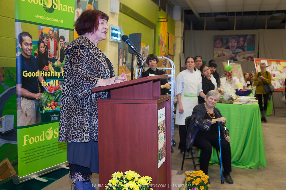 """Marion Kane at the launch party of """"share"""", FoodShare's 1st cookbook. Nov. 14, 2012."""