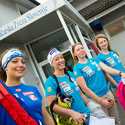 20140805: SLO, Alpine Ski - Departure of Slovenian Women Ski Team to Argentina