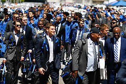 during an NCAA college football game between the Duke University Blue Devils against the University of Alabama Crimson Tide on Saturday, Aug. 31, 2019 in Atlanta, Georgia. University of Alabama won 42-3. (Aaron M. Sprecher via Abell Images for the Ckick-fil-A Kickoff Game)