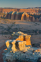 Sunrise on the Upper Cathedral Valley from Hartnet Road Overlook, Capitol Reef National Park Utah