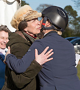 Princess Anne Kisses Daughter Zara Tindall
