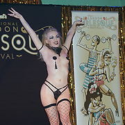 Sandy Sure *Cardiff, Wales preforms at the London Burlesque Festival - The Crown Jewels at Conway Hall on 19th May 2017, UK. by See Li