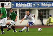 16.08.2006, Olympic Stadium, Helsinki, Finland.<br />Friendly Internatinal Match, Finland v Northern Ireland.<br />Mikael Forssell (Finland) v Stephen Graigan (NIR)<br />©Juha Tamminen<br /><br /><br />..ARK:k