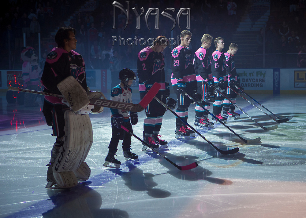KELOWNA, CANADA - OCTOBER 21:  Pepsi Player of the game in the lineup at the Kelowna Rockets game on October 21, 2017 at Prospera Place in Kelowna, British Columbia, Canada.  (Photo By Cindy Rogers/Nyasa Photography,  *** Local Caption ***