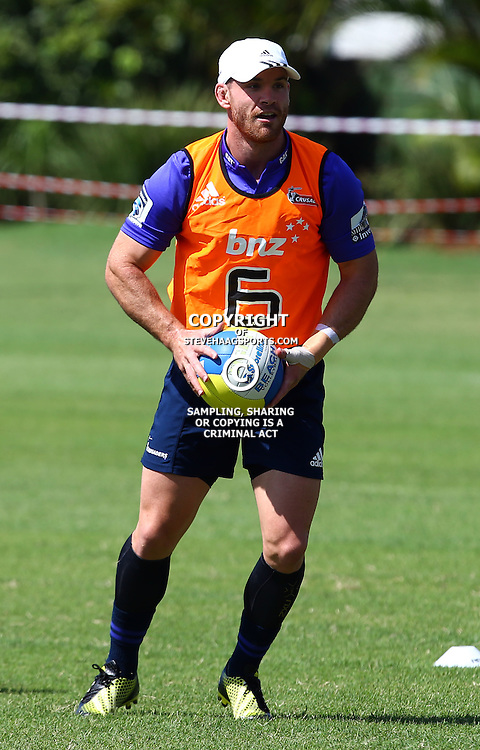 DURBAN, SOUTH AFRICA, 22,MARCH, 2016 - Ryan Crotty during The Crusaders training session  at Northwood School Durban North in Durban, South Africa. (Photo by Steve Haag)<br /> <br /> images for social media must have consent from Steve Haag