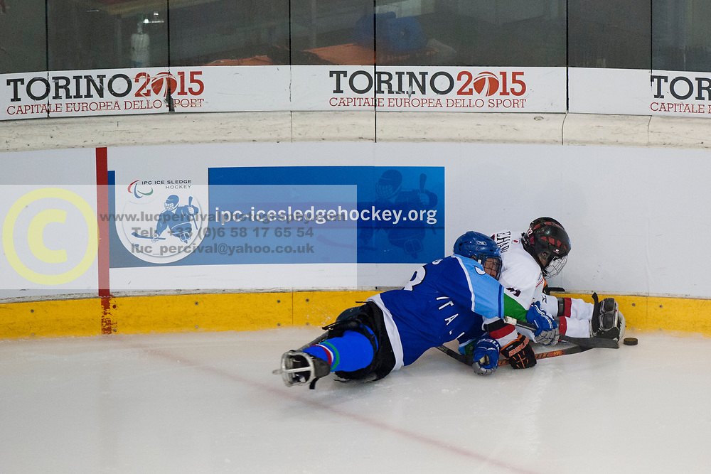 ITA v JPN during the 2013 World Para Ice Hockey Qualifiers for Sochi, Torino, Italy