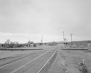 Railroad crossing near Ajo, Arizona.