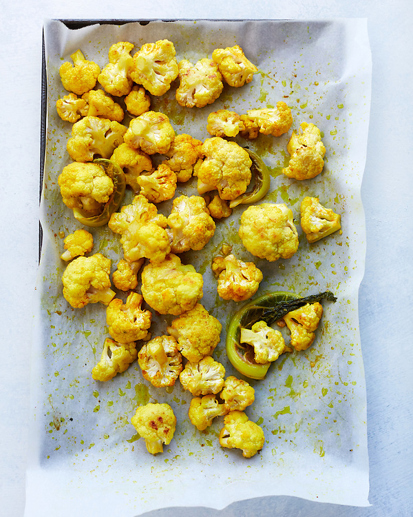 Roasted Cauliflower with Olive Oil and Tumeric
