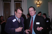 Jeremy Lewis and Simon Master. WH Smith Literary Award. Dartmouth House. 14 January 2004. ONE TIME USE ONLY - DO NOT ARCHIVE  © Copyright Photograph by Dafydd Jones 66 Stockwell Park Rd. London SW9 0DA Tel 020 7733 0108 www.dafjones.com