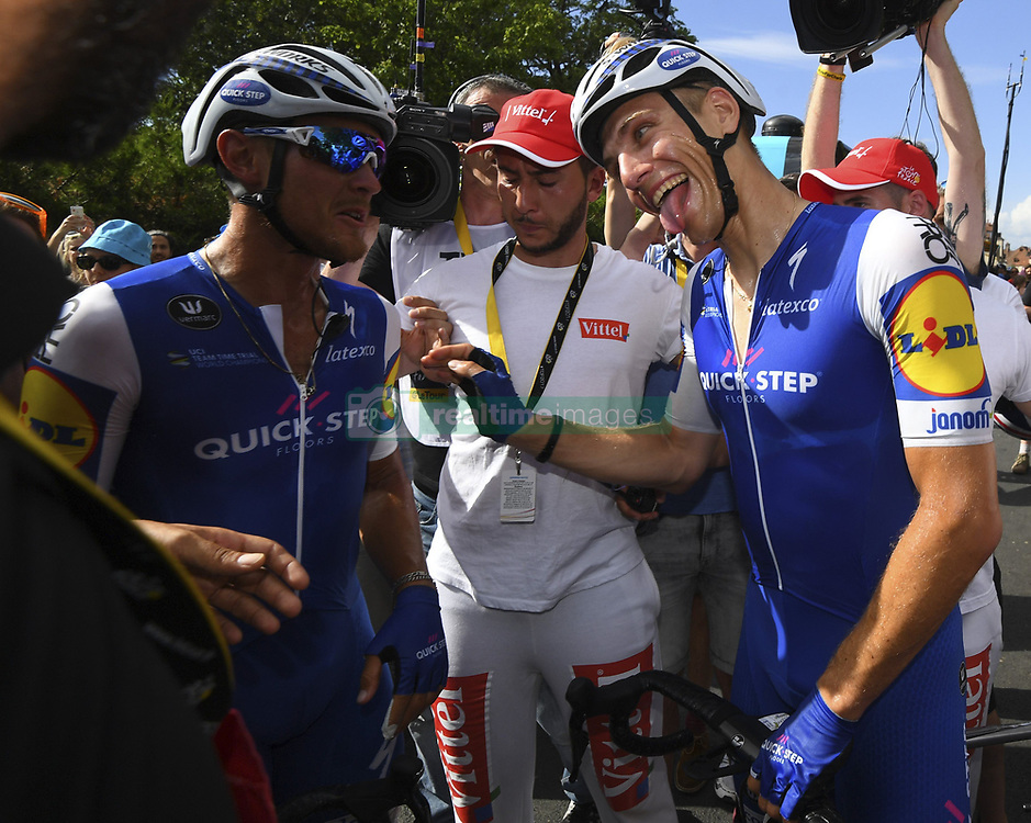 July 7, 2017 - France - VERMOTE Julien of Quick-Step Floors, KITTEL Marcel of Quick-Step (Credit Image: © Panoramic via ZUMA Press)