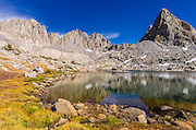 Isosceles Peak and the Palisades in Dusy Basin, Kings Canyon National Park, California USA