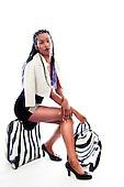 2015 Zebra Luggage Pinup - Megan Justine