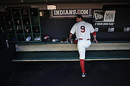 CLEVELAND, OH USA - APRIL 5: Cleveland's Jack Hannahan stretches before the game between the Cleveland Indians and Toronto Blue Jays at Progressive Field in Cleveland, OH, USA on Thursday, April 5, 2012.