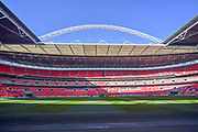 Wembley Stadium under blue skies before the EFL Cup Final match between Arsenal and Manchester City at Wembley Stadium, London, England on 25 February 2018. Picture by Graham Hunt.