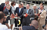 New York City celebrates the grand opening of Hudson River Park Carousel and Skate Park with a ribbon cutting by Governor David Paterson.