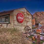 Drink Coca Cola Tin Shack - Eldorado Canyon Techatticup Mine - Nelson NV - HDR