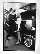 Marla Maples getting into a Limo in New York 1990,ONE TIME USE ONLY - DO NOT ARCHIVE  © Copyright Photograph by Dafydd Jones 66 Stockwell Park Rd. London SW9 0DA Tel 020 7733 0108 www.dafjones.com