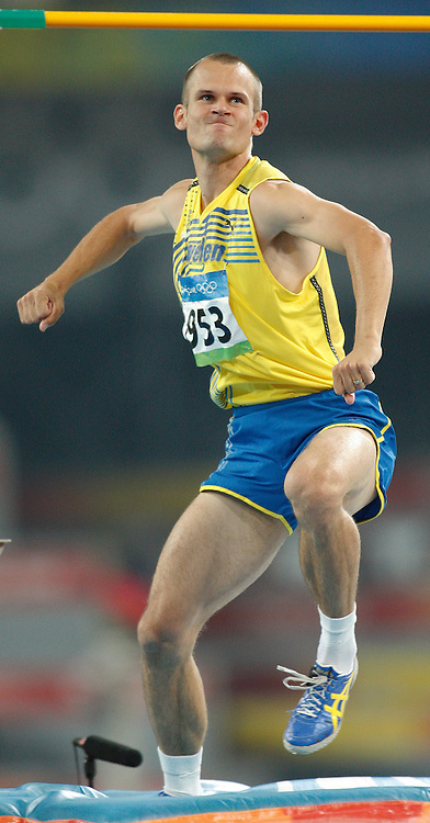2008 Beijing Olympic Games- August 19th- Evening *** Stefan Holm, Sweden, High Jump, HJ *** Day 5 Evening