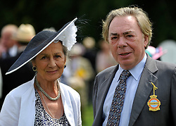 © licensed to London News Pictures. LONDON, UK.  28/07/11. Lord Lloyd Webber. Ladies day at Glorious Goodwood on 28 July 2011. More than 100,000 people flock through the gates of Glorious Goodwood to enjoy the atmosphere. There are racing highlights every day - including the Sussex Stakes, the Goodwood Cup and the Markel International Nassau Stakes.Mandatory Credit Stephen Simpson/LNP