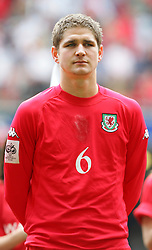 CARDIFF, WALES - SATURDAY MARCH 26th 2005: Wales' Carl Robinson lines up before the Wold Cup Qualifying match against Austria at the Millennium Stadium. (Pic by David Rawcliffe/Propaganda)