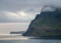 Mjóifjörður evening mood. East fiords of Iceland.