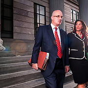 John McMahon and Erin Lentz, of the law firm McMahon, McMahon & Lentz, from Norristown, Pa.