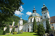 ETTAL, GERMANY - SEPTEMBER 02, 2010: View to the Ettal Abbey, a Benedictine monastery in Ettal, Germany.