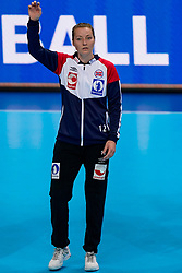 06-12-2019 JAP: Norway - Netherlands, Kumamoto<br /> Last match groep A at 24th IHF Women's Handball World Championship. / The Dutch handball players won in an exciting game of fear gegner Norway and wrote in the last group match at the World Handball  World Championship history (30-28). / Silje Margaretha Solberg #12 of Norway