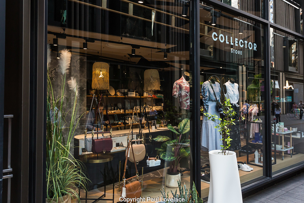 The Collector Store along  the streets of Barangaroo. This retail shop is situated close to the Barangaroo Commercial Towers, Sydney.