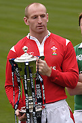 Gareth Thomas hold the Six nation Trophy at the launch 2006,  RBS Six Nations, Rugby Press Conference, Hurlingham Club, Fulham. London ENGLAND, 25.01.2006    © Peter Spurrier/Intersport Images - email images@intersport-images.   [Mandatory Credit, Peter Spurier/ Intersport Images].