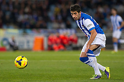 15.12.2013, Anoeta Stadium, San Sebastian, ESP, Primera Division, Real Sociedad vs Real Betis, 16. Runde, im Bild Real Sociedad's Jose Angel Valdes // Real Sociedad's Jose Angel Valdes during the Spanish Primera Division 16th round match between Real Sociedad and Real Betis at the Anoeta Stadium in San Sebastian, Spain on 2013/12/15. EXPA Pictures © 2013, PhotoCredit: EXPA/ Alterphotos/ Mikel<br /> <br /> *****ATTENTION - OUT of ESP, SUI*****