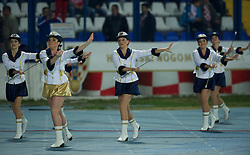 OSIJEK, CROATIA - Tuesday, October 16, 2012: Croatian majorettes before the Brazil 2014 FIFA World Cup Qualifying Group A match between Croatia and Wales at the Stadion Gradski Vrt. (Pic by David Rawcliffe/Propaganda)