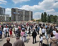 Démolition de la tour DEF du quartier Balzac à Vitry-sur-Seine dans le cadre d'une oprération de renouvellement urbain (ANRU) / Demolition of the tower DEF district Balzac Vitry-sur-Seine (France) in the context of an urban renewal oprération (ANRU)