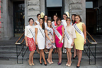 31/07/2014 There was an excellent turnout of fashionable ladies at Hotel Meyrick for their Most Stylish Lady Competition, judged by two of Ireland's leading fashion commentators Sonya Lennon  and Brendan Courtney .  At the event was the rose of Tralee Conttestants. ,Picture:Andrew Downes