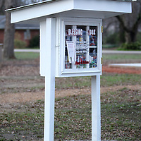 Adam Robison   BUY AT PHOTOS.DJOURNAL.COM<br /> Friends of Nettleton has started a blessing box, a mini food pantry where anyone can drop off or pick up non-perishable as needed.