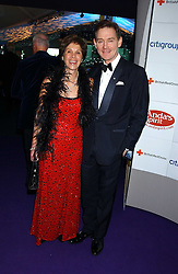 Actor ANTHONY ANDREWS and his wife GEORGINA at The British Red Cross London Ball - H2O The Element of Life, held at The Room by The River, 99 Upper Ground, London SE1 on 17th November 2005.<br /><br />NON EXCLUSIVE - WORLD RIGHTS
