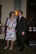 Leander de Lisle and her husband Peter de Lisle. Book party to celebrate the publication of ' How the King of Scots Won the Throne of England in 1603 by Leanda de Lisle. St. Wilfred's Hall. Brompton Oratory. London. 9 May 2005. ONE TIME USE ONLY - DO NOT ARCHIVE  © Copyright Photograph by Dafydd Jones 66 Stockwell Park Rd. London SW9 0DA Tel 020 7733 0108 www.dafjones.com